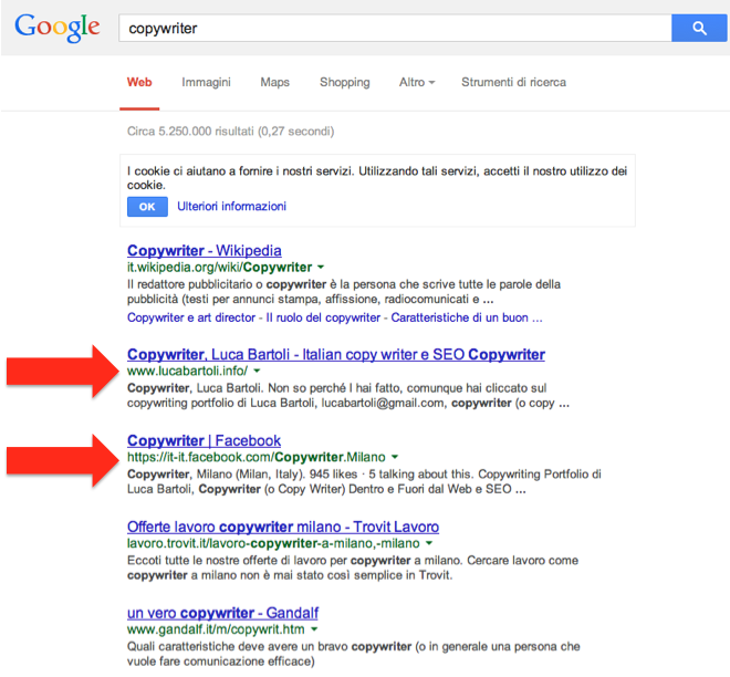 copywriter google