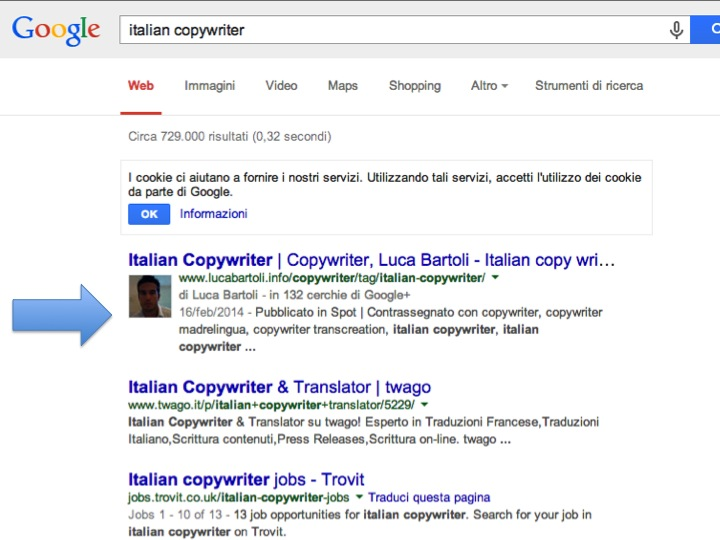 italian copywriter