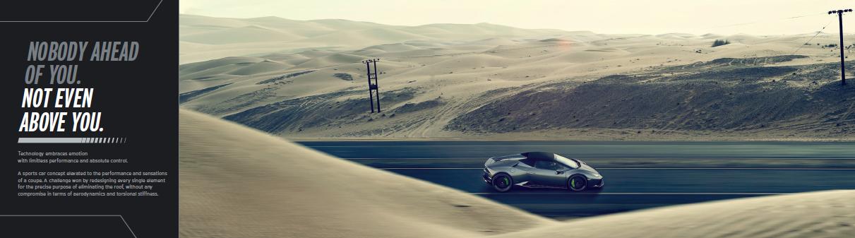Nuova Lamborghini Huracan Spyder