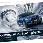 pubblicita Audi quattro Coppa del Mondo di Sci